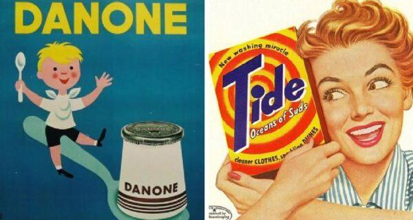 20 примеров того, как выглядела реклама известных брендов в далеком прошлом