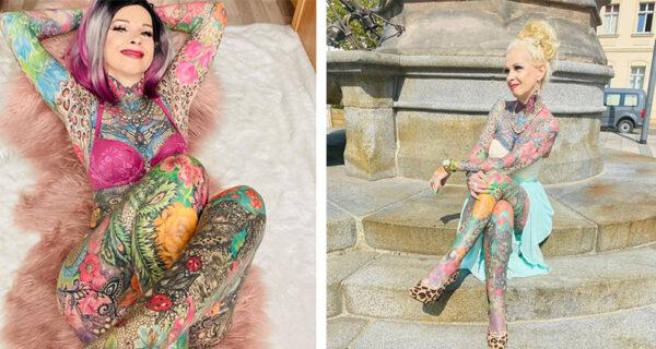 «Я хотела добавить немного цвета»: 50-летняя немка сделала одно тату и уже не смогла остановиться