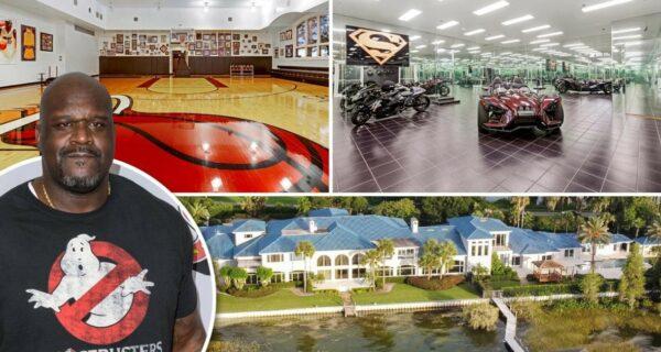 Шакил О'Нил продал свой роскошный дворец во Флориде за 16,5 миллионов долларов