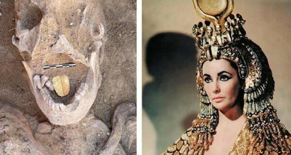 В Египте откопали древнюю мумию с золотым языком