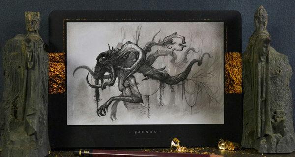 Тени и мистические существа французского художника Оливье Виллуана