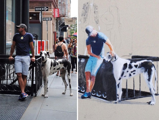 15 атмосферных рисунков жителей Нью-Йорка от россиянки ОлиНик