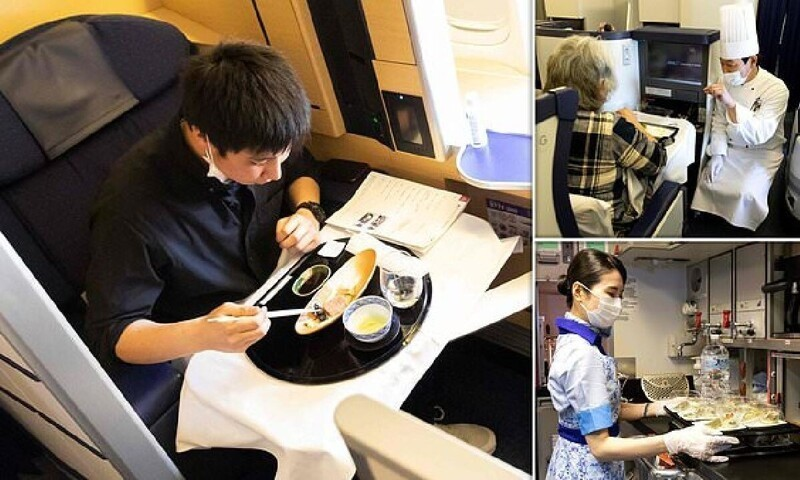 Как устроен «крылатый ресторан» японской авиакомпании All Nippon Airways
