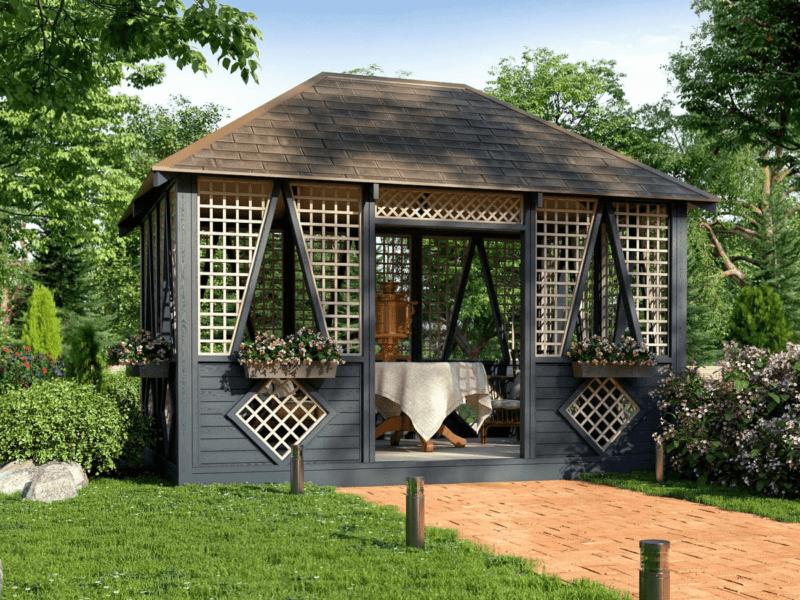 malye arhitekturnye formy v sadu