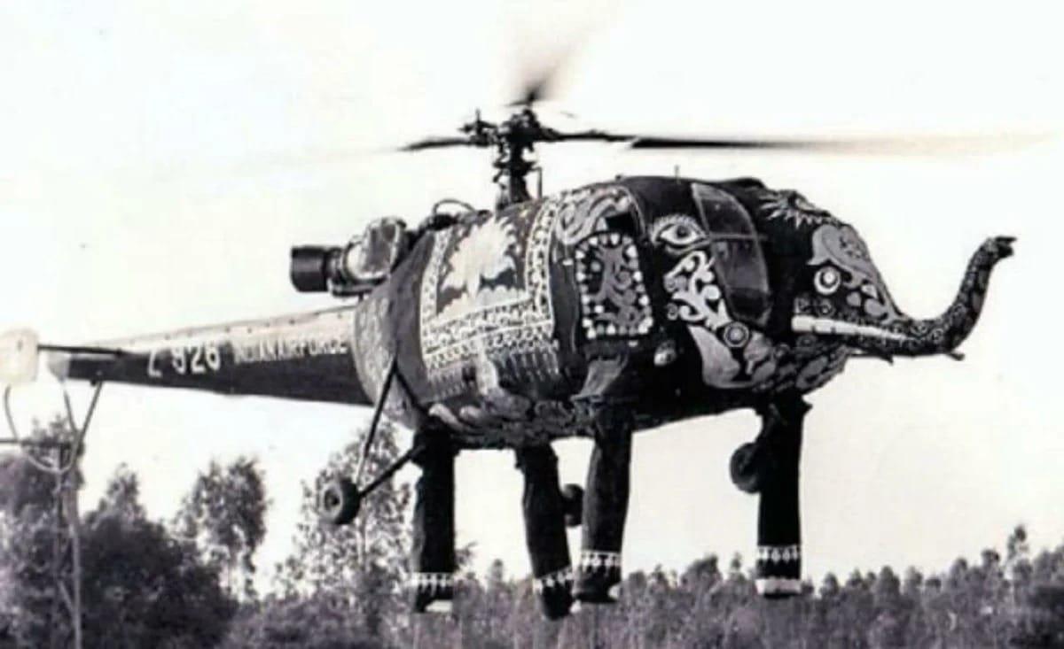 Слоны-вертолеты индийской армии: противник будет напуган