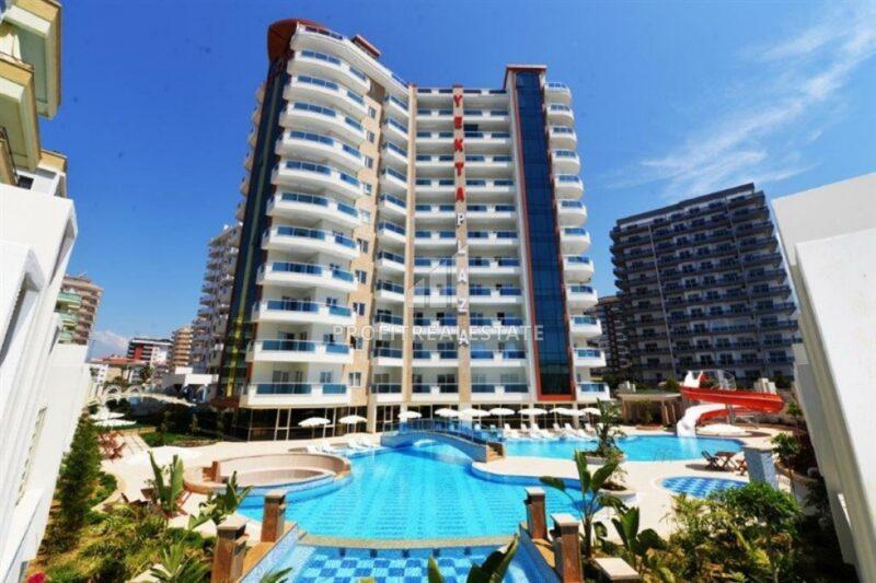 Апартаменты планировки 1+1, с мебелью и техникой, в жилом комплексе с богатой инфраструктурой, Махмутлар, Аланья, 65 м2
