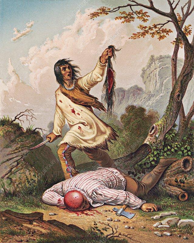 Scalping, illustration, 1852