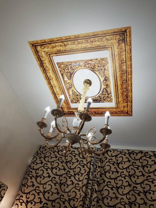 матовые натяжные потолки с арт печатью