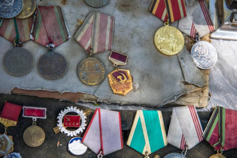 Tbilisi,,georgia, ,may,3,,2019,old,soviet,badges,,orders