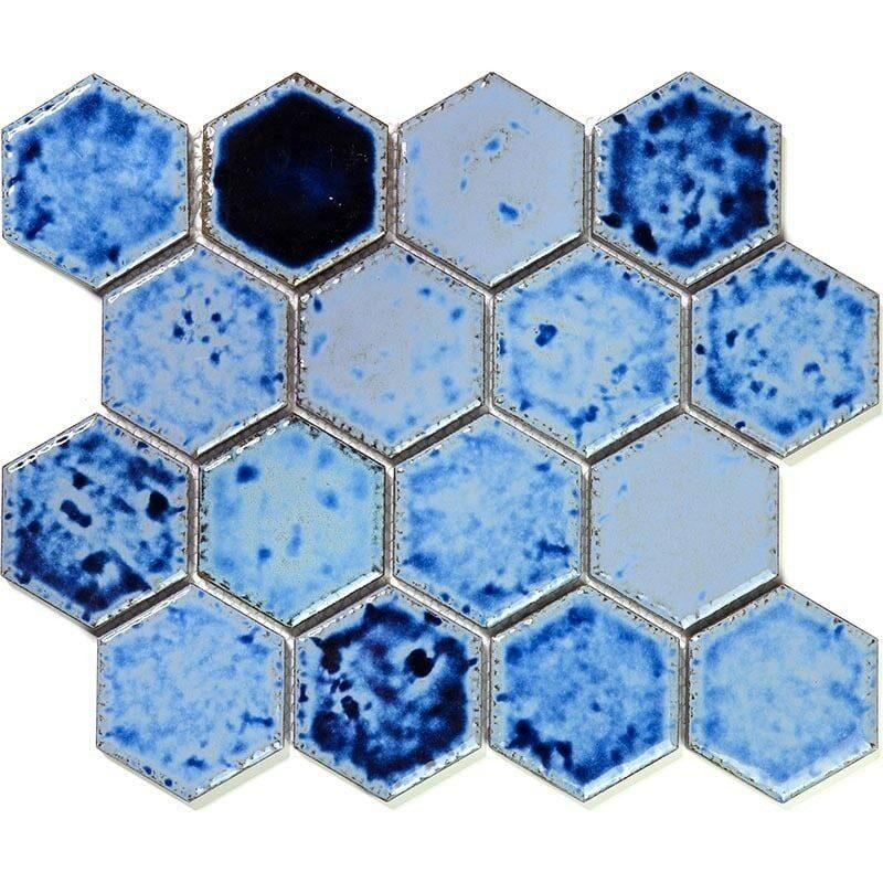 hexa 25 4 испанская керамическая декоративная мозаика gaudi hexa