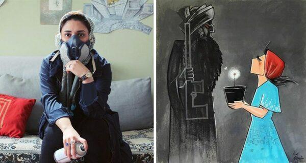 Женщины и война: трогательные работы первой граффитистки Афганистана Шамсии Хассани