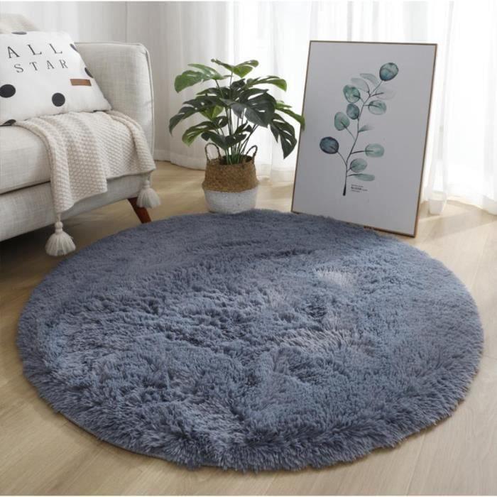 Bigpicture ru amorus tapis de salon shaggy gris doux peluche c