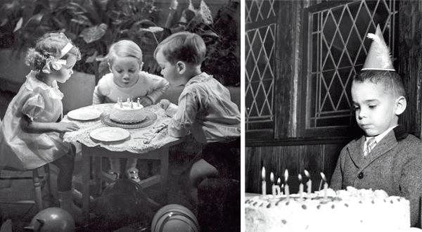Старые фото день рождения торт и свечи