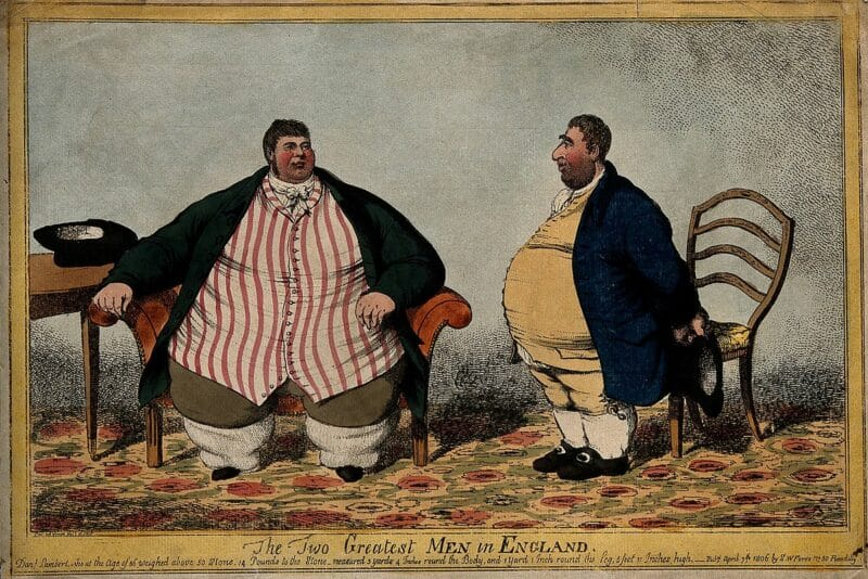 Bigpicture ru 1200px a humorous comparison between the obese daniel lambert and c wellcome v0007163
