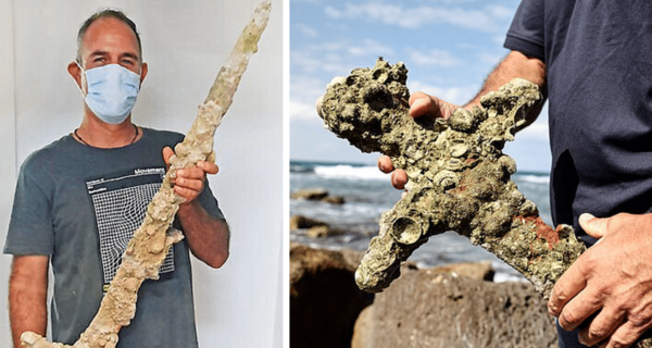 У берегов Израиля дайвер обнаружил меч крестоносца возрастом 900лет