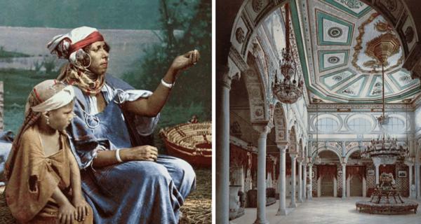 Тунис конца 19-го века на старинных цветных открытках