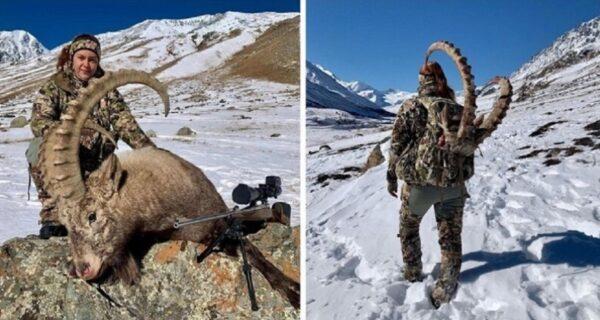 Российская охотница убила козерога и стала объектом ненависти