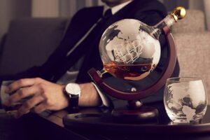 Whiskey Decanter Globe Set
